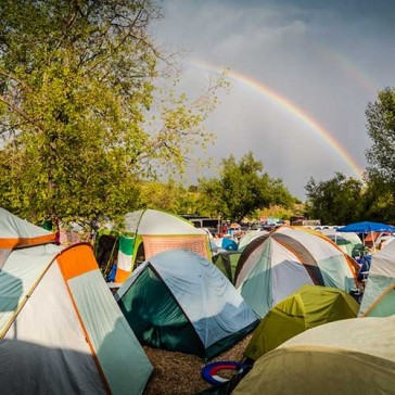 On-site campground at Planet Bluegrass