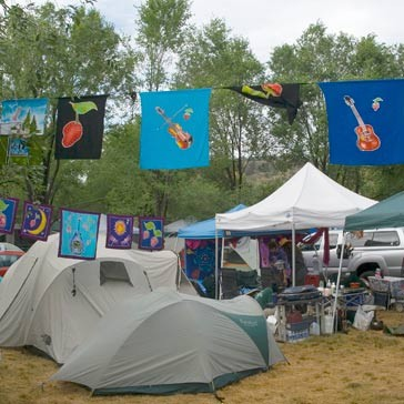 Onsite campground flags
