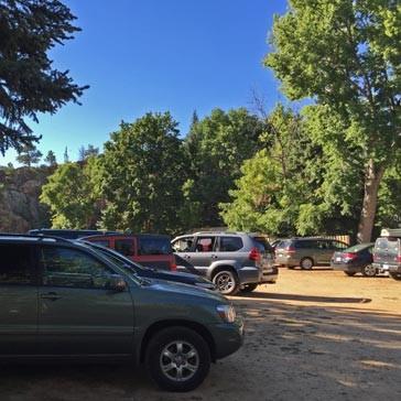 River Bend parking area