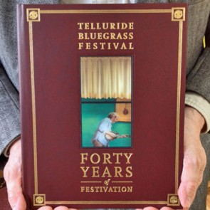 Forty Years of Festivation is hardbound in Spanish Leather