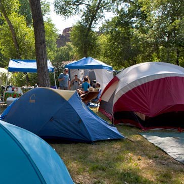 onsite tent camping