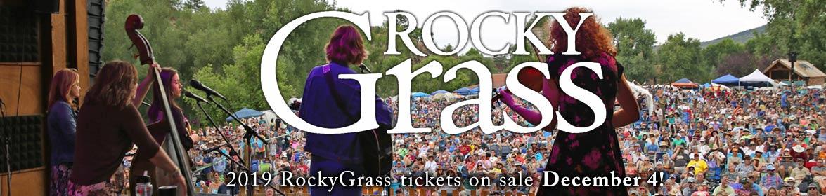 2019 RockyGrass tickets on sale December 4
